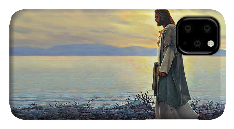 Jesus IPhone 11 Case featuring the painting Walk With Me by Greg Olsen