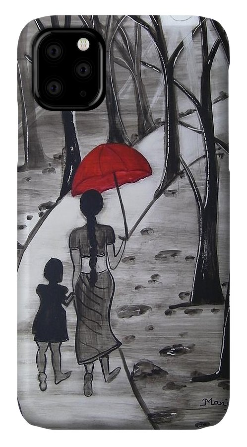 Red IPhone Case featuring the photograph Walking in Sunshine by Manjiri Kanvinde