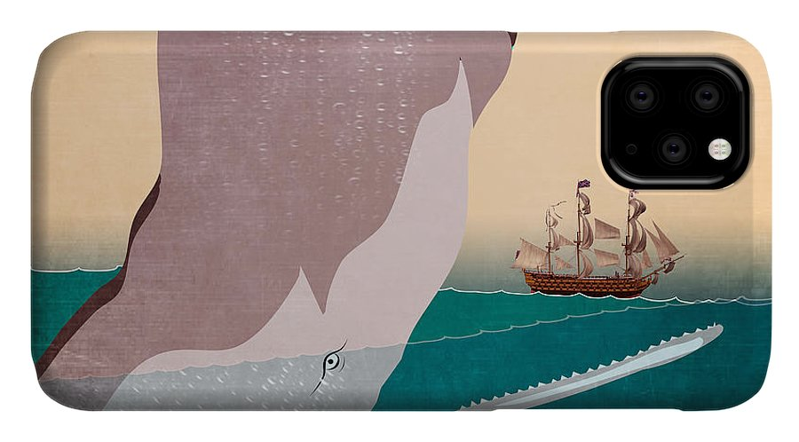 Moby Dick IPhone Case featuring the painting Wall 6 by Mark Ashkenazi