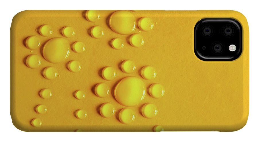 Abstract IPhone 11 Case featuring the photograph Water Flowers by Carlos Caetano