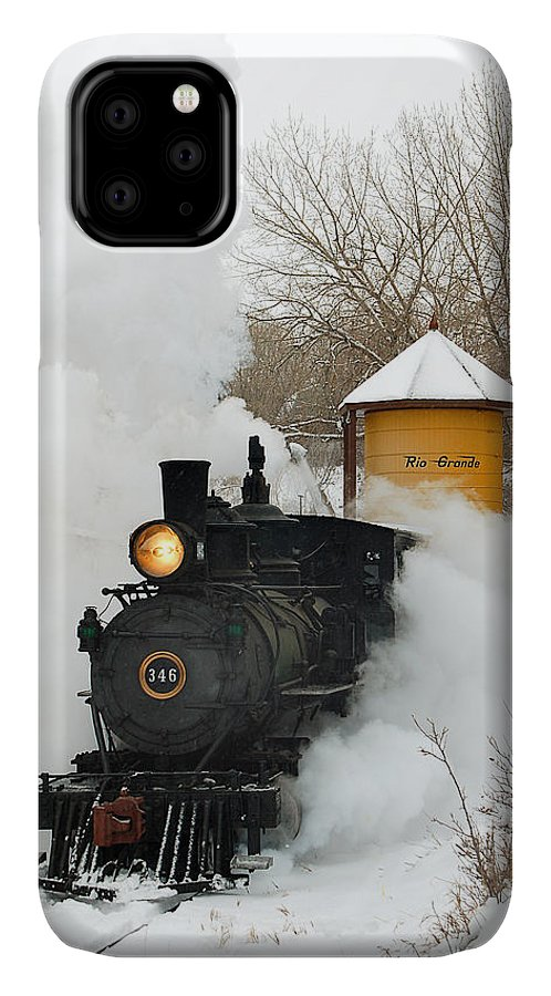Colorado Railroad Museum IPhone Case featuring the photograph Water Tower Behind The Steam by Ken Smith