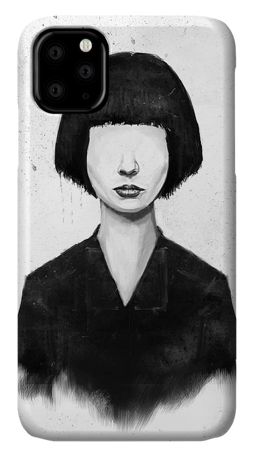 Girl IPhone Case featuring the mixed media What You See Is What You Get by Balazs Solti