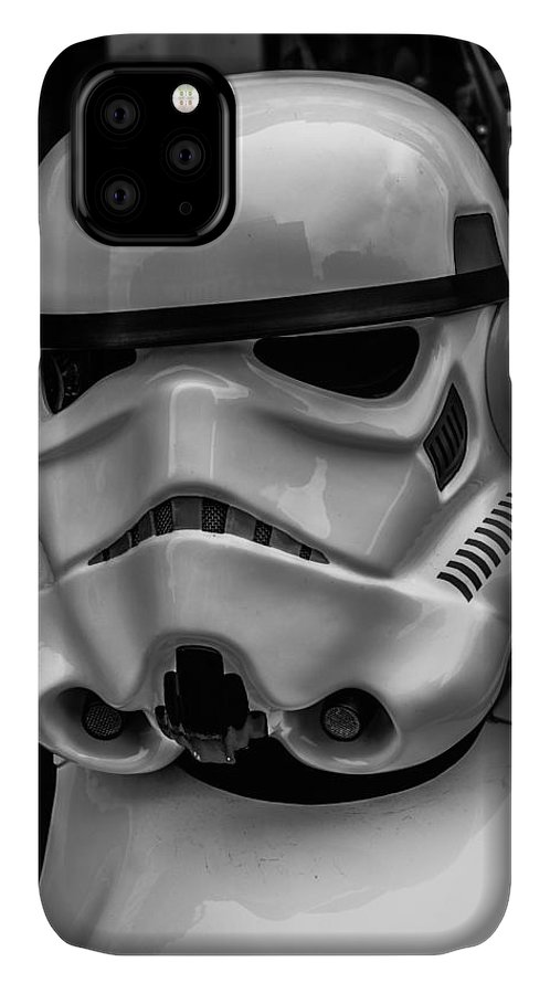 White Storm Trooper IPhone Case featuring the photograph White Stormtrooper by David Doyle