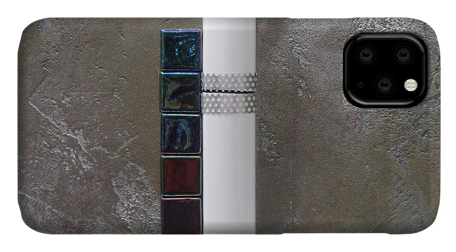 Assemblage IPhone Case featuring the relief White Tower by Elaine Booth-Kallweit