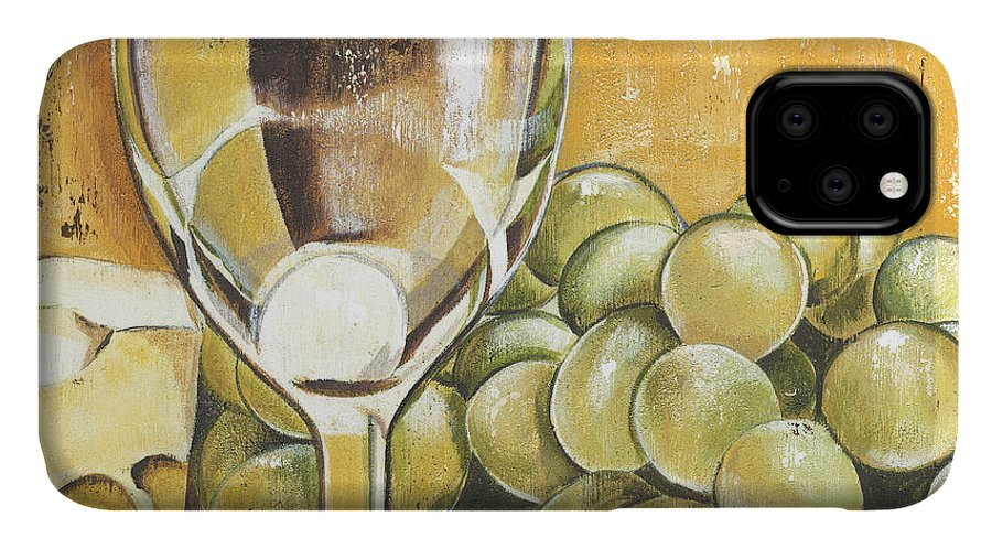 White Wine IPhone Case featuring the painting White Wine And Cheese by Debbie DeWitt