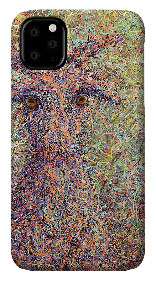 Goat IPhone Case featuring the painting Wild Goat by James W Johnson