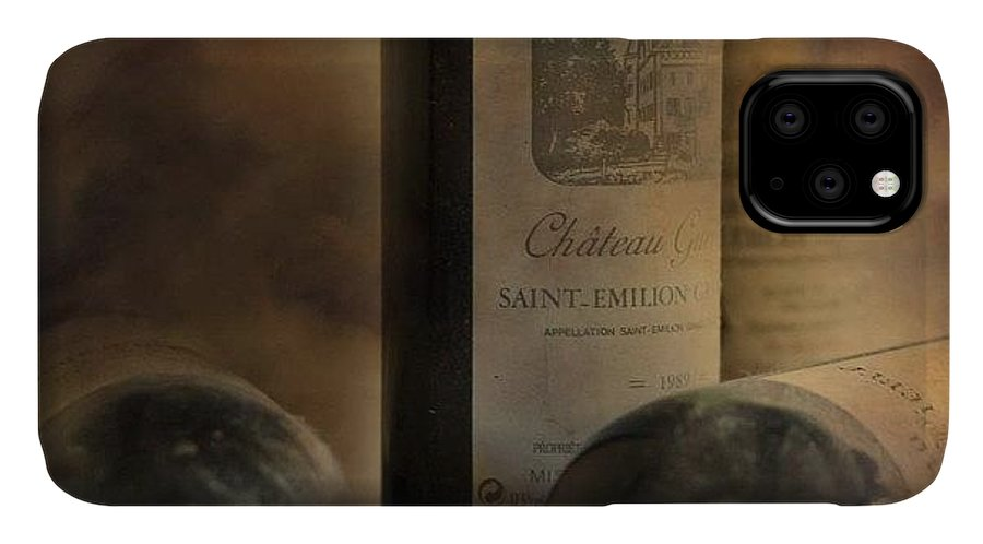 Love IPhone 11 Case featuring the photograph #wine #french #redwine #stemilion by Georgia Fowler