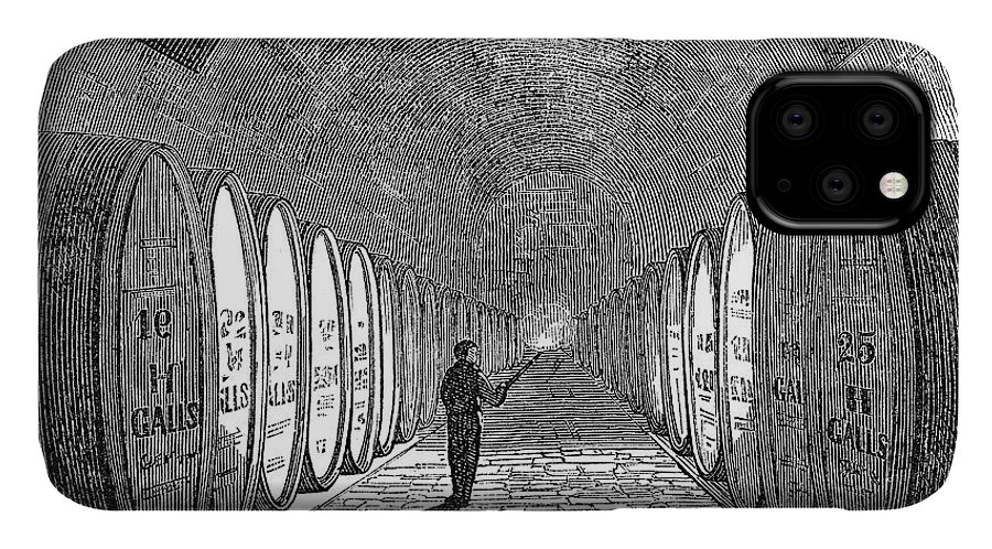 1866 IPhone Case featuring the painting Winemaking Vault, 1866 by Granger