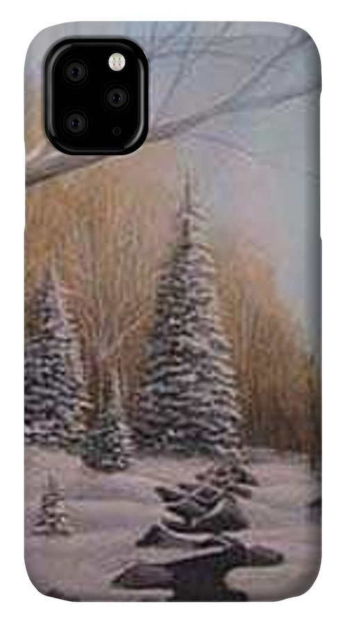 Rick Huotari IPhone Case featuring the painting Winter Morning by Rick Huotari
