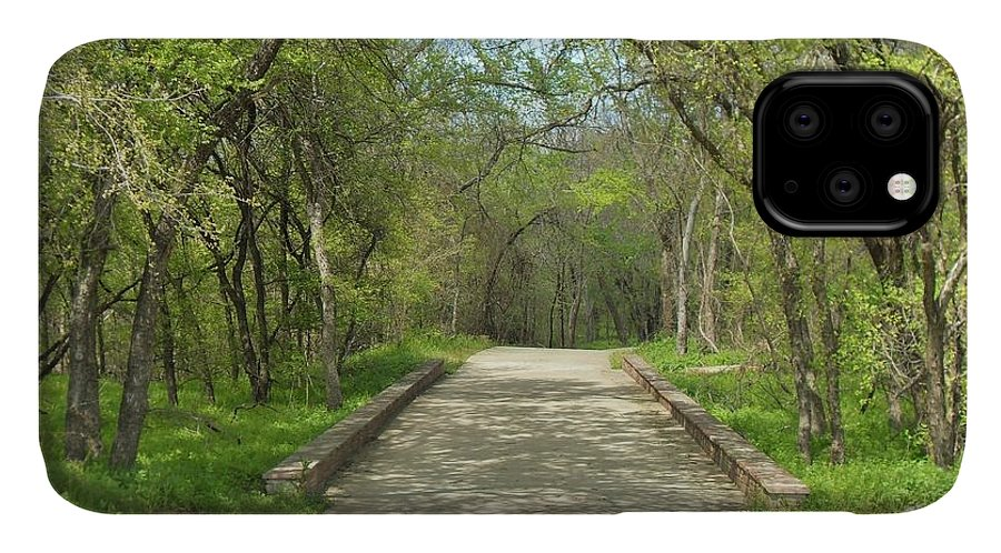 Paths IPhone Case featuring the photograph Walking In The Park by Donna Wilson