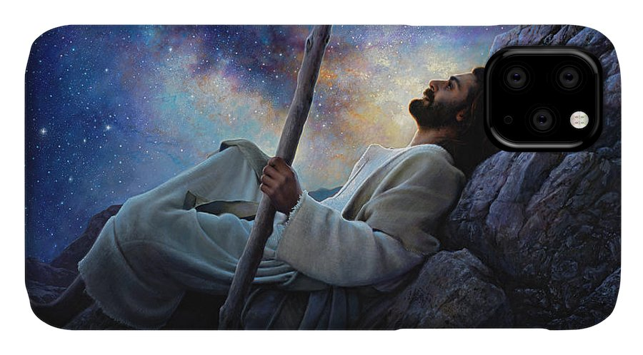 Jesus IPhone Case featuring the painting Worlds Without End by Greg Olsen
