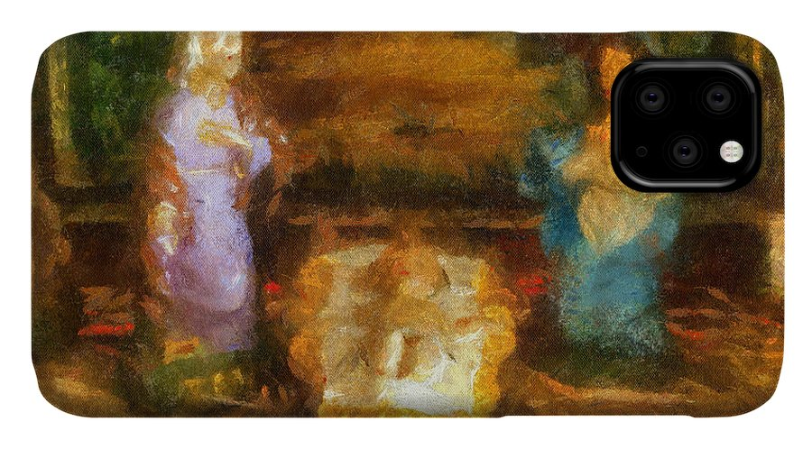 Baby Jesus IPhone 11 Case featuring the photograph Xmas Baby Jesus Photo Art by Thomas Woolworth