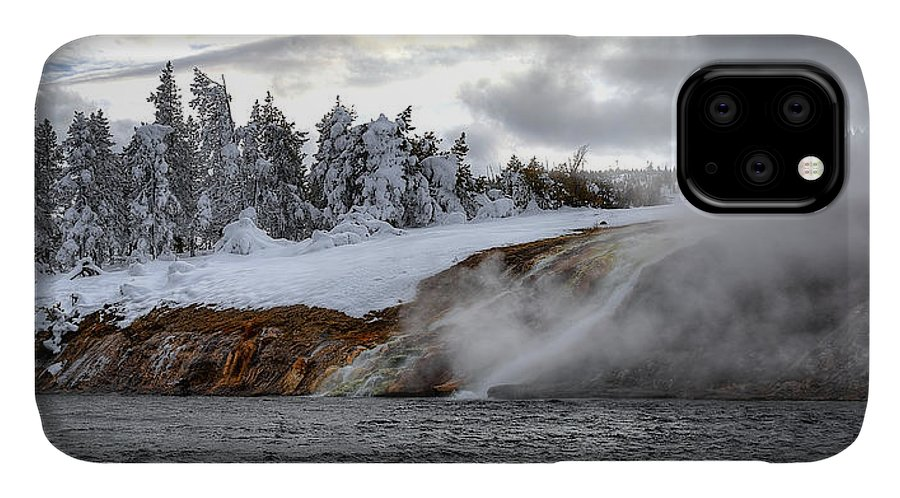 Fire Hole River IPhone Case featuring the photograph Yellowstone's Fire And Ice by Ryan Smith