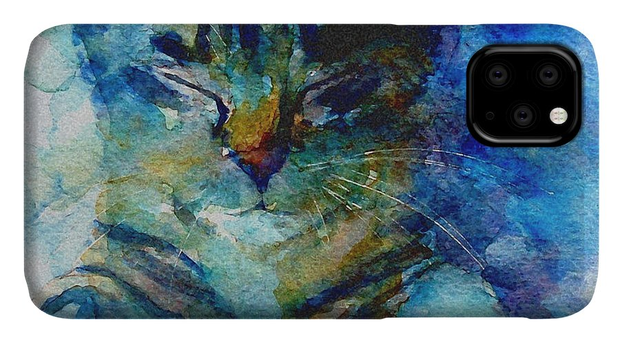 Cat IPhone Case featuring the painting You've Got A Friend by Paul Lovering