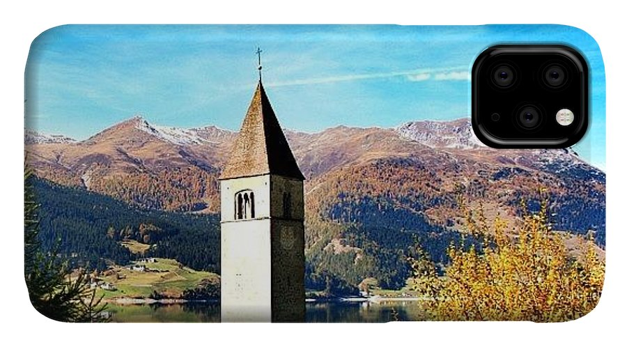 Outdoor IPhone Case featuring the photograph Lago Di Resia - Alto Adige. reshen by Luisa Azzolini