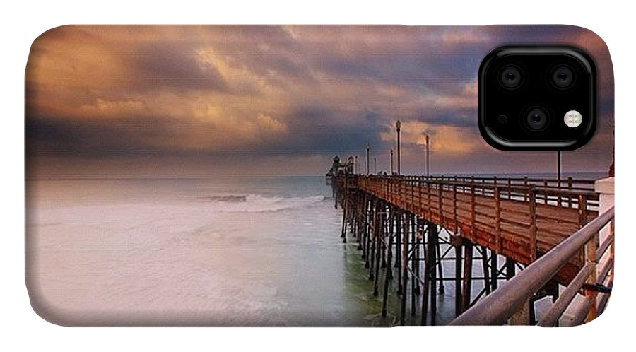 IPhone Case featuring the photograph Long Exposure Sunset At The Oceanside by Larry Marshall
