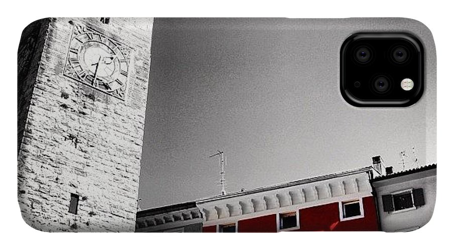 City IPhone Case featuring the photograph Red House by Luisa Azzolini