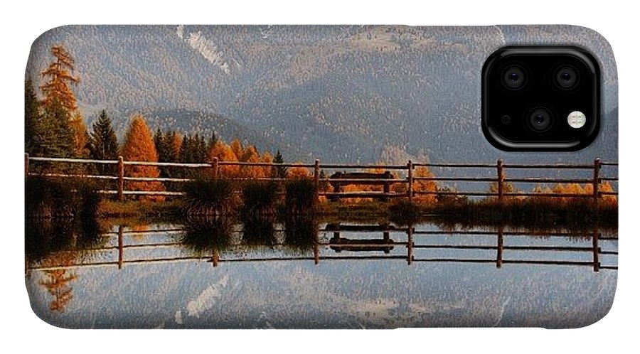 Outdoor IPhone Case featuring the photograph Reflections by Luisa Azzolini