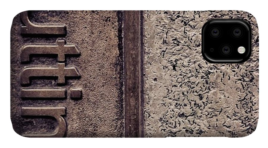 Abstract IPhone Case featuring the photograph #texture #abstract #manchester by Ritchie Garrod