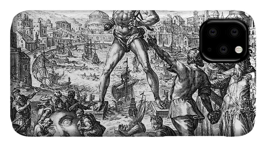 3rd Century B. C. IPhone Case featuring the photograph Colossus Of Rhodes by Granger