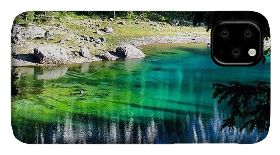 Beautiful IPhone Case featuring the photograph Lake Of Carezza by Luisa Azzolini