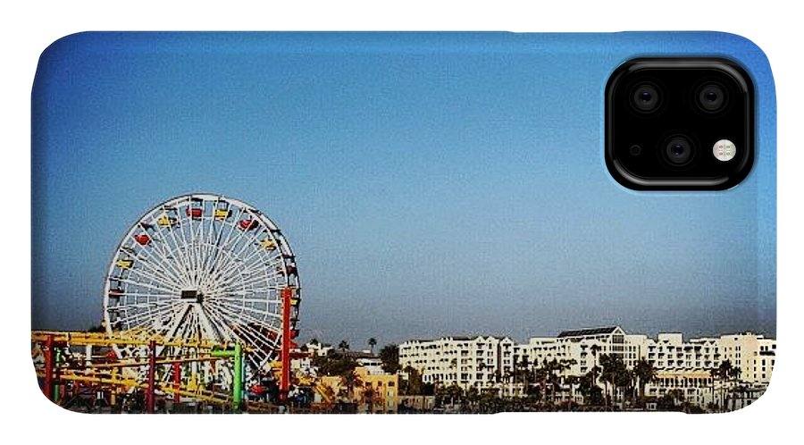Outdoor IPhone Case featuring the photograph Santa Monica by Luisa Azzolini