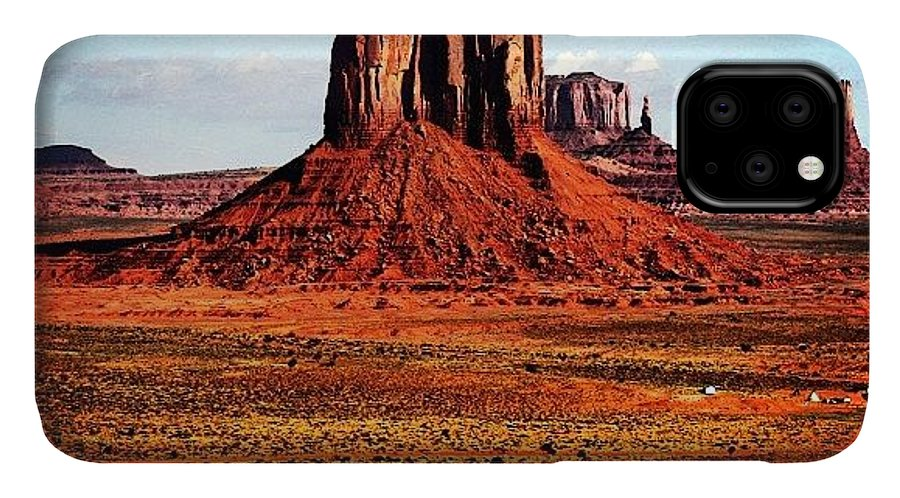 Monumentvalley IPhone Case featuring the photograph Monument Valley by Luisa Azzolini