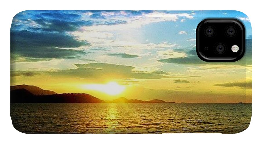 Beautiful IPhone Case featuring the photograph Tropical Sunset by Luisa Azzolini