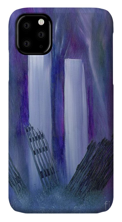 911 IPhone Case featuring the painting 9-11 Remembering by Judy Filarecki