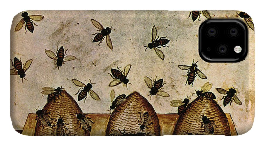 Agriculture IPhone Case featuring the photograph Apiculture-Beekeeping-14th Century by Science Source
