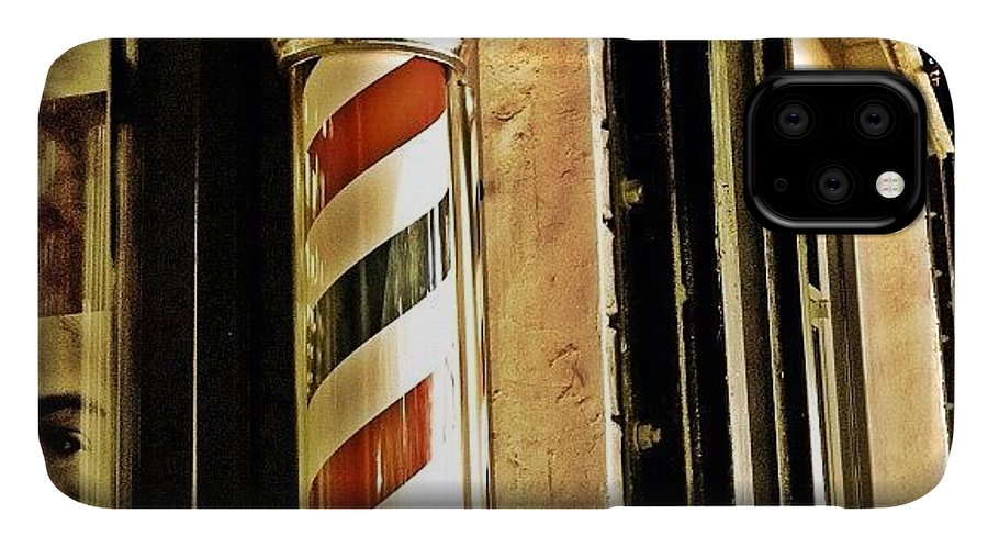 Old IPhone 11 Case featuring the photograph Barbershop by Joel Lopez