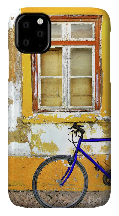 Aged IPhone 11 Case featuring the photograph Bike Window by Carlos Caetano
