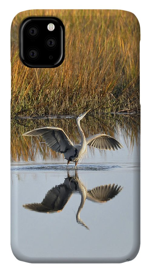 Great Blue Heron IPhone Case featuring the photograph Bird Dance by Kay Lovingood
