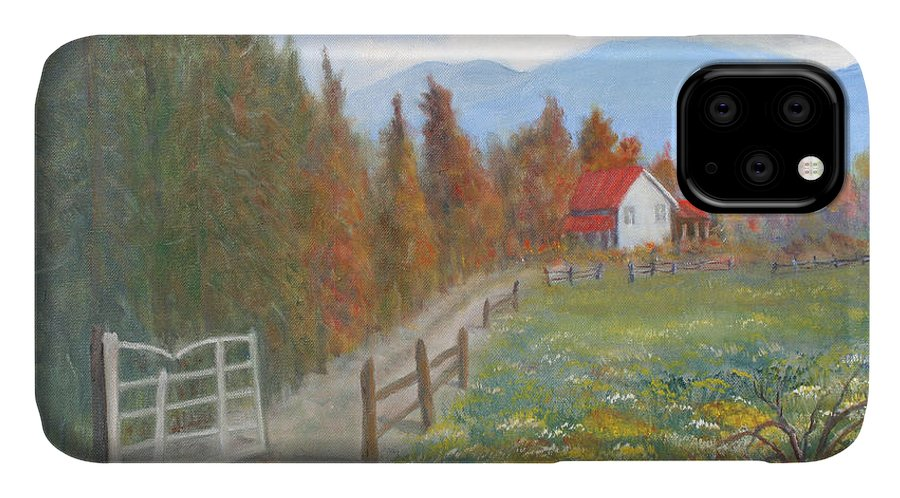 IPhone Case featuring the painting Country Road by Ben Kiger