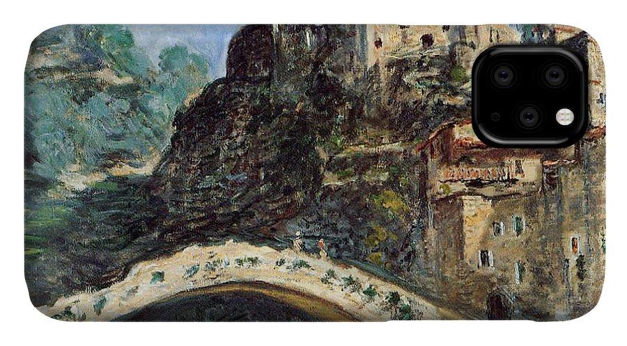 Dolceacqua IPhone 11 Case featuring the painting Dolceacqua by Claude Monet