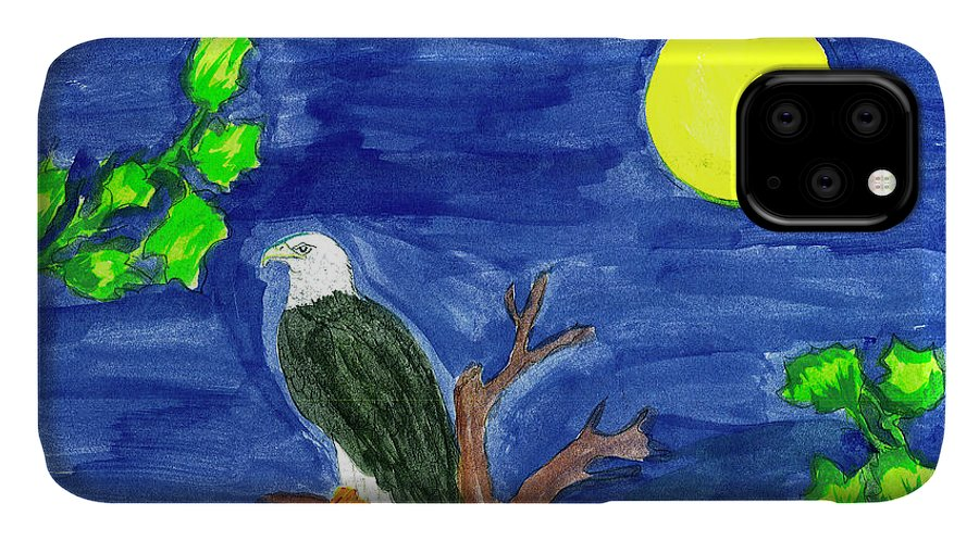 IPhone Case featuring the painting Eagle by Harry Richards