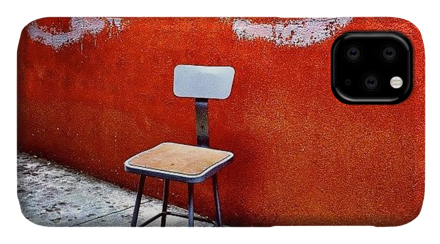Empty Chair IPhone 11 Case featuring the photograph Empty Chair by Julie Gebhardt