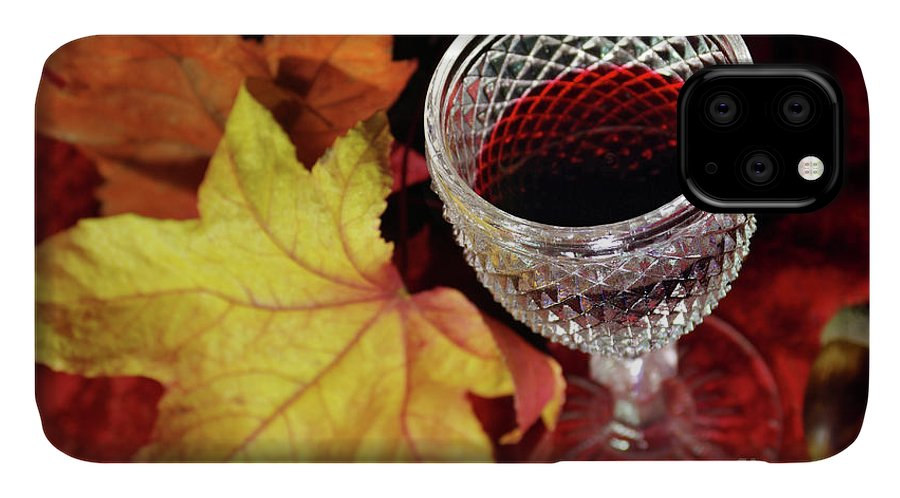 Acorn IPhone Case featuring the photograph Fall Red Wine by Carlos Caetano