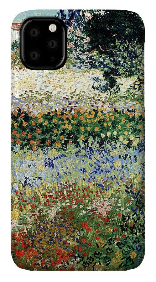 Garden In Bloom IPhone Case featuring the painting Garden in Bloom by Vincent Van Gogh