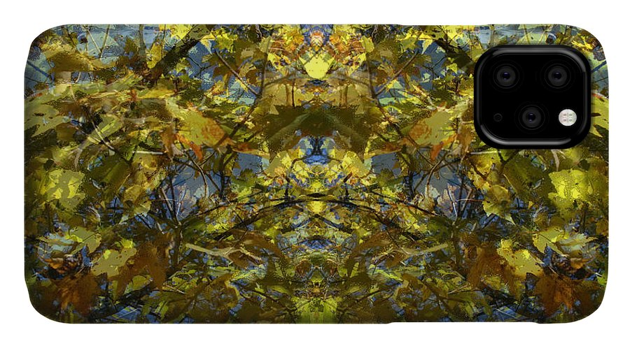 Golden Rorschach IPhone Case featuring the photograph Golden Rorschach by Seth Weaver