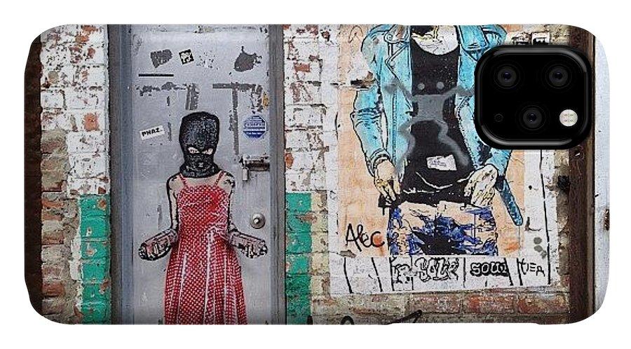 Summer IPhone 11 Case featuring the photograph Graffiti Artist by Randy Lemoine