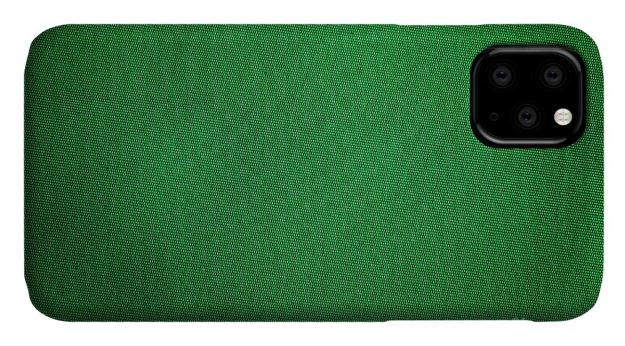 Background IPhone Case featuring the photograph Green Grunge Textile by Henrik Lehnerer