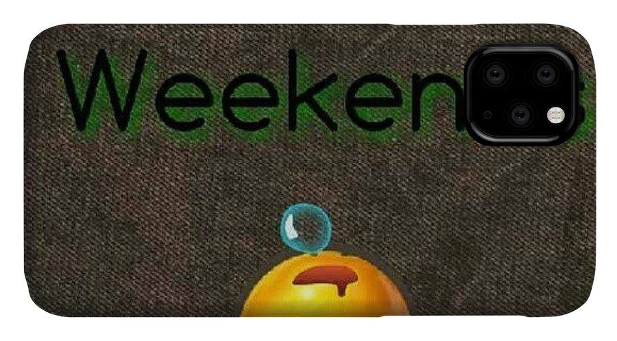 Textgram IPhone Case featuring the photograph How I Spend Weekends #jo #amman #jordan by Abdelrahman Alawwad