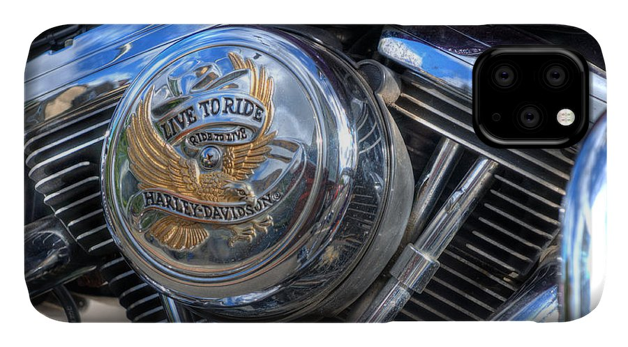 Harley Davidson IPhone Case featuring the photograph Live To Ride by Steve Purnell