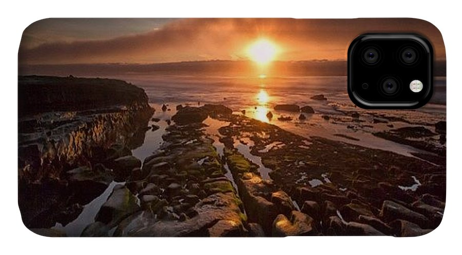 IPhone Case featuring the photograph Long Exposure Sunset In La Jolla by Larry Marshall