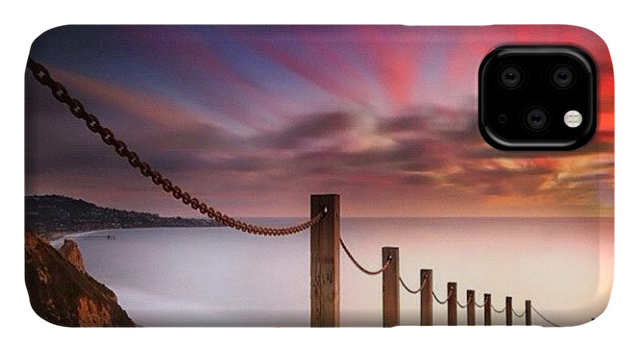 IPhone Case featuring the photograph Long Exposure Sunset Shot From The by Larry Marshall