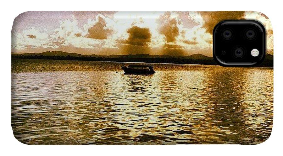 Elmalecon IPhone 11 Case featuring the photograph #naguabo #elmako #elmalecon #sunset by Luis Rafael