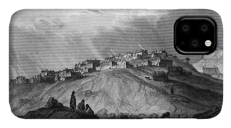 1854 IPhone Case featuring the photograph New Mexico: Laguna Pueblo by Granger