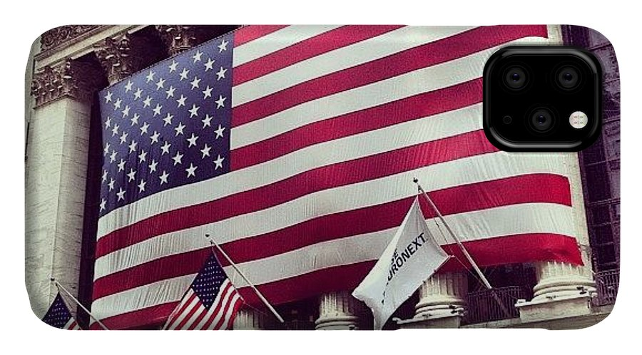 Europe IPhone Case featuring the photograph New York Stock Exchange/wall Street by Randy Lemoine