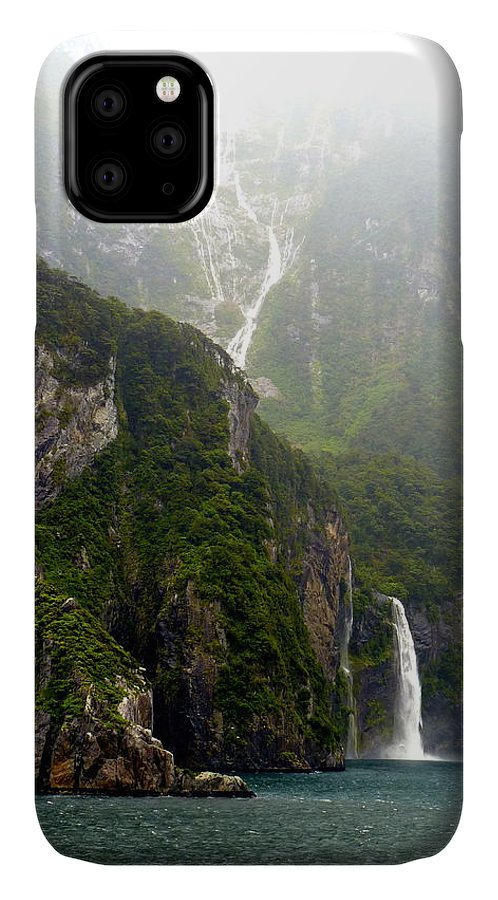 Milford IPhone 11 Case featuring the photograph New Zealand's Milford Sound by Carla Parris